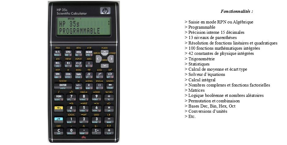 HP 35S CALCULATOR